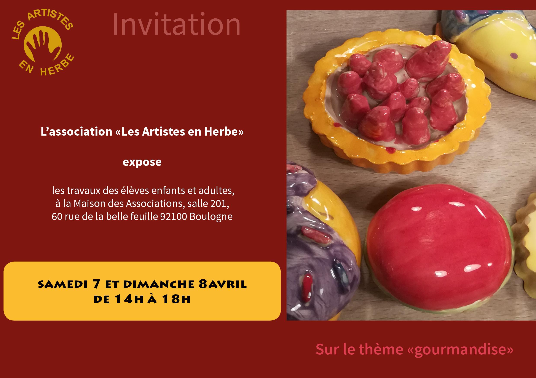 Invitation exposition artistes en herbe 2018